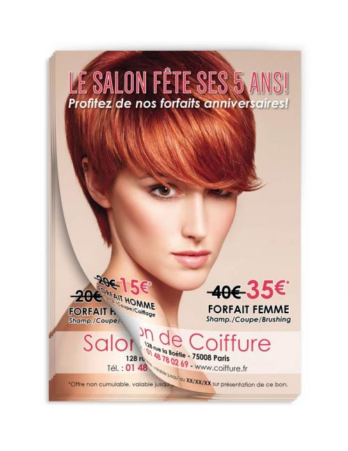 Flyer hairstyle birthday copper FL211