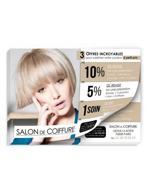 Flyer coiffure 3 offers woman FL251