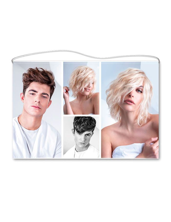 See through hairdressing banner multiple FC672